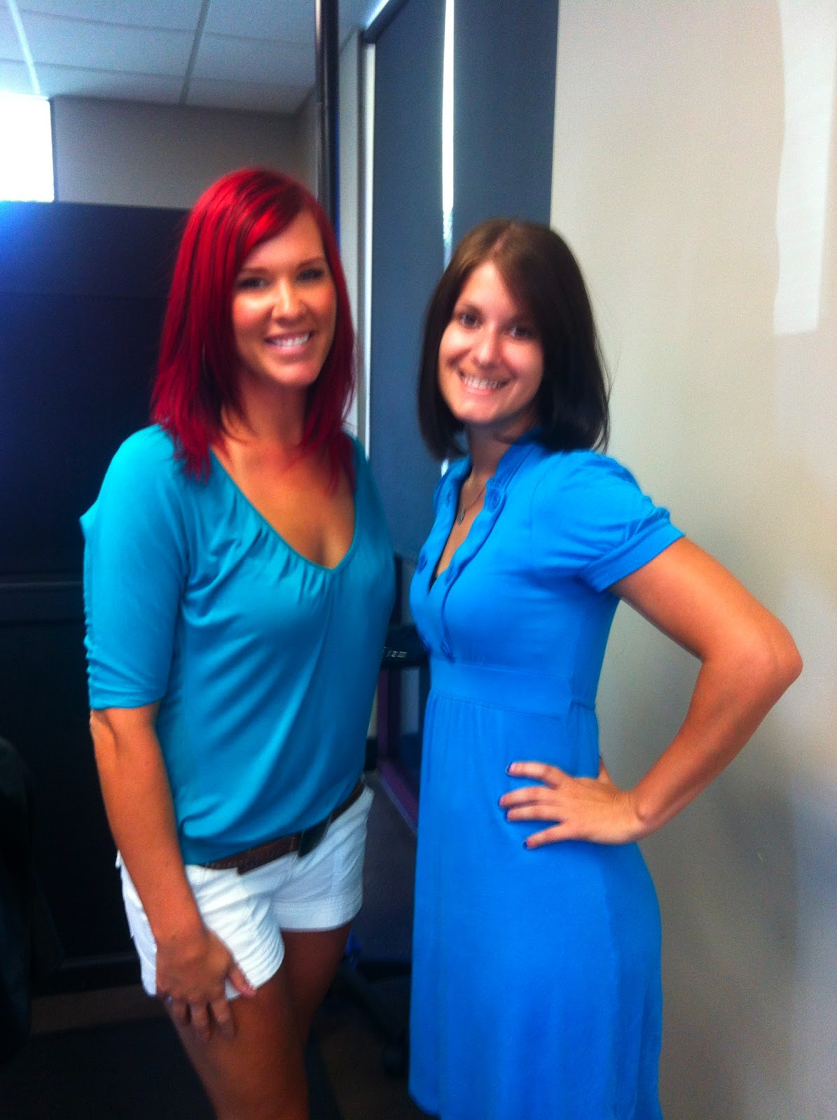 Sara Hunt and I after she cut  my hair off!